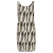 Buy Warehouse Feather Embellished Dress, Cream Online at johnlewis.com