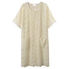 Buy East Lace Longline Jacket, Ivory Online at johnlewis.com