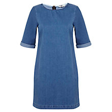 Buy Miss Selfridge Dress, Mid Wash Denim Online at johnlewis.com