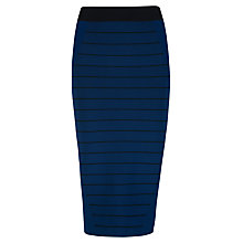 Buy Ted Baker Sashaey Ottoman Knitted Skirt, Navy Online at johnlewis.com