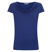 Buy Kaliko Cowl Neck Diamante Trim Top, Blue Online at johnlewis.com