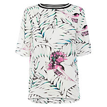 Buy Warehouse Tropical Bird Rib Top, Multi Online at johnlewis.com
