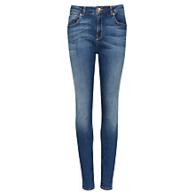 Buy Ted Baker Highje High Waisted Jeans, Mid Wash Online at johnlewis.com