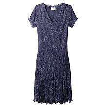 Buy East Lace Pleat Dress, Plum Online at johnlewis.com