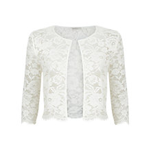 Buy Kaliko Scallop Edge Lace Jacket, Neutral Online at johnlewis.com