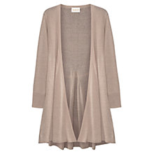 Buy East Longline Linen Cardigan, Stone Online at johnlewis.com