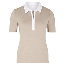 Buy Viyella Marl Jersey Top, Natural Online at johnlewis.com