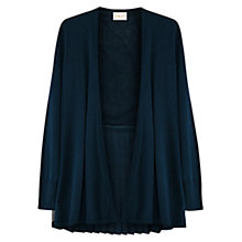 Buy East Pleat Back Linen Cardigan, Teal Online at johnlewis.com