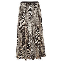 Buy Viyella Animal Crinkle Skirt, Bitter Chocolate Online at johnlewis.com