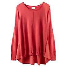 Buy East Silk Detail Jumper, Soft Blush Online at johnlewis.com