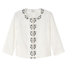 Buy East Victoire Jewelled Jacket, Ivory Online at johnlewis.com