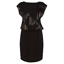 Buy Warehouse Star Sequin Dress, Black Online at johnlewis.com