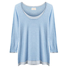 Buy East Double Layer Gauze Top, Blue Online at johnlewis.com