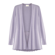 Buy East Pleat Back Cardigan, Lavender Online at johnlewis.com