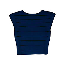 Buy Ted Baker Salsah Ottoman Knitted Crop Top, Navy Online at johnlewis.com