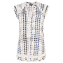 Buy Warehouse Geo Mesh Insert Top, Pink Pattern Online at johnlewis.com