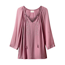 Buy East Metallic Embroidered Tunic Top Online at johnlewis.com