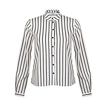 Buy Miss Selfridge Striped Shirt, White / Navy Online at johnlewis.com