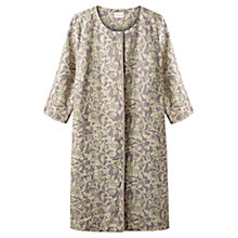 Buy East Victoire Rosetti Linen Duster Coat, Slate Online at johnlewis.com