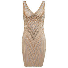 Buy Miss Selfridge Premium Collection Maddison Bodycon Dress, Gold Online at johnlewis.com