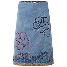 Buy White Stuff Lotus Flower Skirt, Orient Blue Online at johnlewis.com