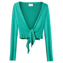 Buy East Frill Trim Linen Bolero Online at johnlewis.com