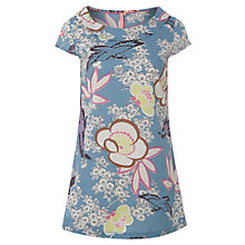 Buy White Stuff Kimono Bloom Cotton Tunic Dress, Orient Blue Online at johnlewis.com