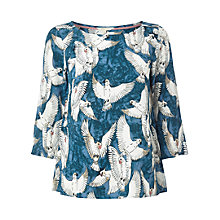 Buy White Stuff Cockatiel Cotton Top, Orient Blue Online at johnlewis.com