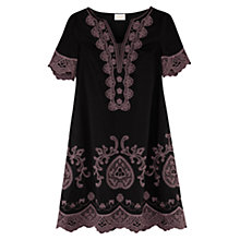 Buy East Lace Applique Dress, Black Online at johnlewis.com