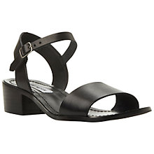 Buy Steve Madden Dense Leather Sandals, Black Online at johnlewis.com