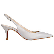 Buy L.K. Bennett Florita Nappa Leather Slingback Court Shoes, Mist Online at johnlewis.com