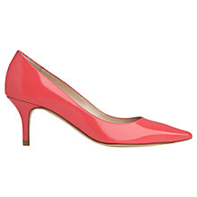 Buy L.K. Bennett Florisa Saffiano Patent Court Shoes, Jelly Bean Online at johnlewis.com