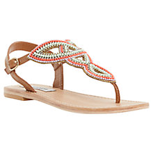 Buy Steve Madden Adria Bead Detailed Sandals, Silver Online at johnlewis.com