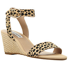 Buy Steve Madden Natalia Wedge Sandals, Leopard Pony Online at johnlewis.com