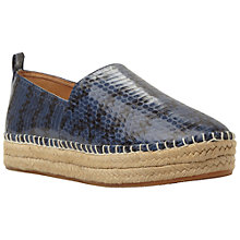 Buy Steve Madden Pacificc Snake Espadrilles, Blue Online at johnlewis.com