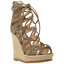 Buy Steve Madden Theea Lace Up High Heeled Espadrille Sandals Online at johnlewis.com