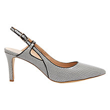 Buy Mint Velvet Anya Leather Court Shoes, Grey Online at johnlewis.com