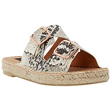 Buy Dune Black Linzi Double Strap Leather Espadrille Sandals, Natural Online at johnlewis.com