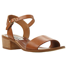 Buy Steve Madden Dense Leather Block Heel Sandals, Tan Online at johnlewis.com