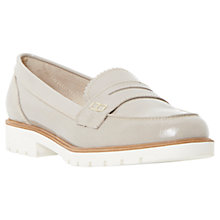 Buy Dune Gleat Cleated Sole Penny Patent Loafers, Grey Online at johnlewis.com