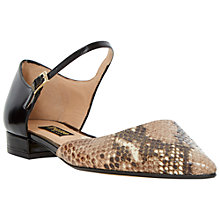 Buy Dune Black Holley Snake Leather Shoes, Black Online at johnlewis.com