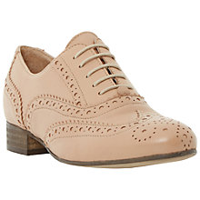 Buy Dune Black Ferne Lace Up Leather Brogues, Beige Online at johnlewis.com