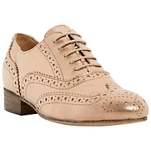 Buy Dune Black Ferne Lace Up Leather Brogues, Rose Gold Online at johnlewis.com