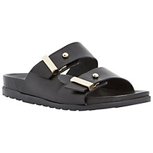 Buy Dune Black Liesel Leather Sandals, Black Online at johnlewis.com