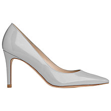 Buy L.K. Bennett Floret Pointed Court Shoes, Mist Patent Leather Online at johnlewis.com