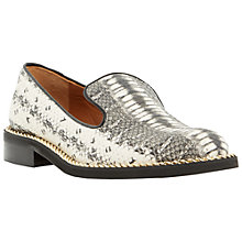 Buy Dune Black Gema Reptile High Vamp Leather Loafers, Natural Online at johnlewis.com
