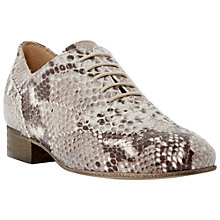 Buy Dune Black Ferne Lace Up Reptile Brogues, Natural Online at johnlewis.com
