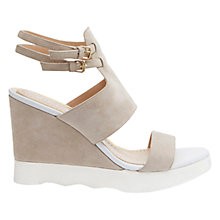 Buy Mint Velvet Serena Suede Wedges, Mink Online at johnlewis.com