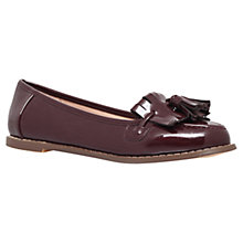 Buy Carvela Maggie Fringe and Tassle Detail Loafers, Wine Online at johnlewis.com