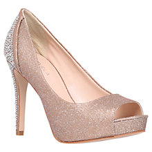 Buy Carvela Juliette Peep Toe Occasion Shoes, Bronze Online at johnlewis.com
